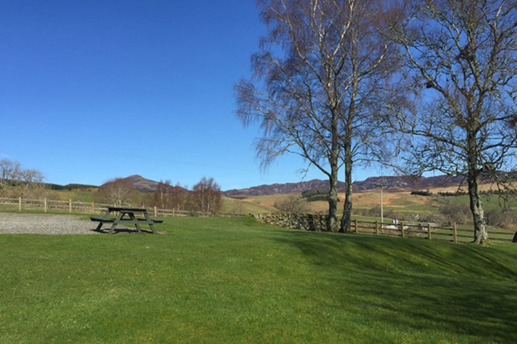 Aodin garden with views over the Tay Valley