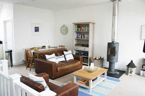Ben Macdui living area with wood burning stove