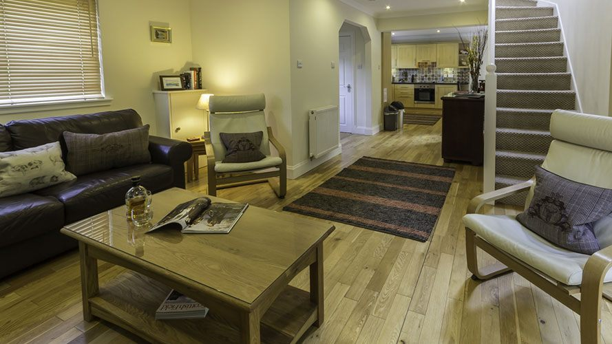 River View Cottage open plan living area and kitchen