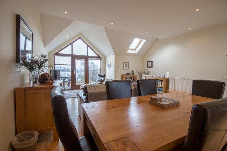 Dining area within open plan living space