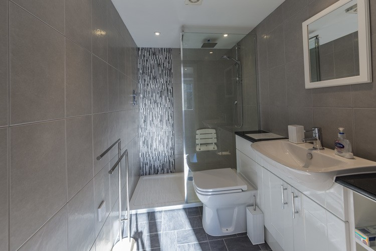 Luxury downstairs shower room