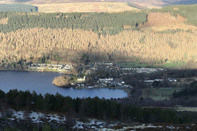Kenmore Village in the Perthshire Highlands at the eastern end of Loch Tay