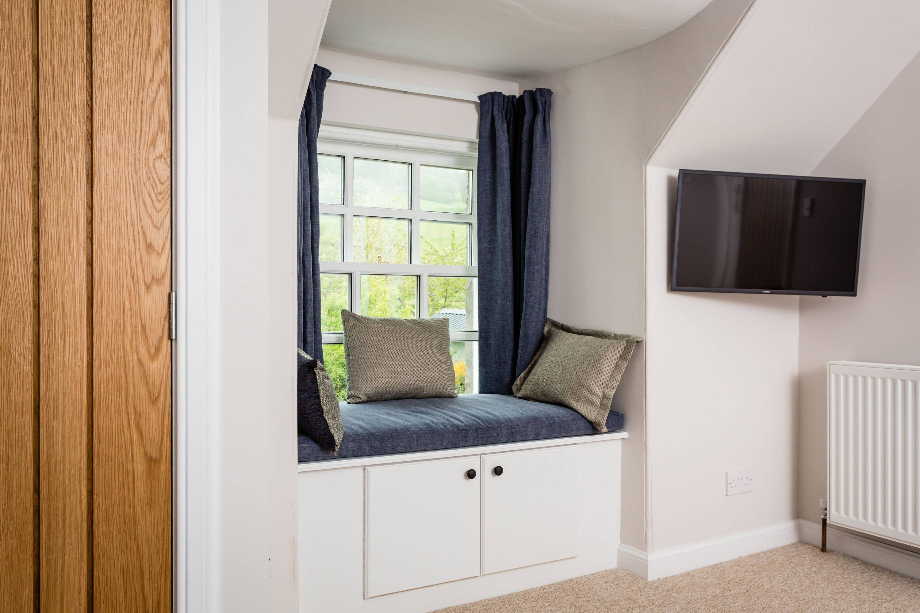 Croftness Cottage bedroom with flat screen TV