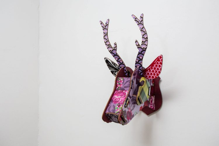 Croftness Cottage modern stag head decoration