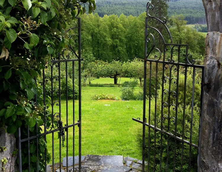 Gateway to the beautiful old walled garden which has its own orchard