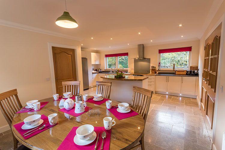 Tursachan open plan kitchen dining area