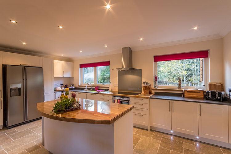 Tursachan modern kitchen with beautiful views