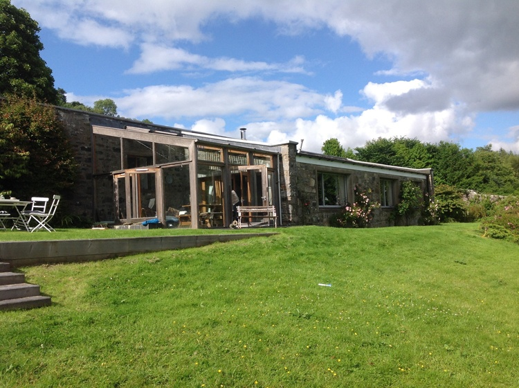 The house sits overlooking the beautiful walled garden
