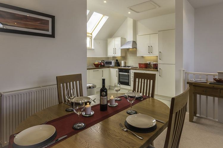 Ben Lawers open plan kitchen and dining area which seats 4
