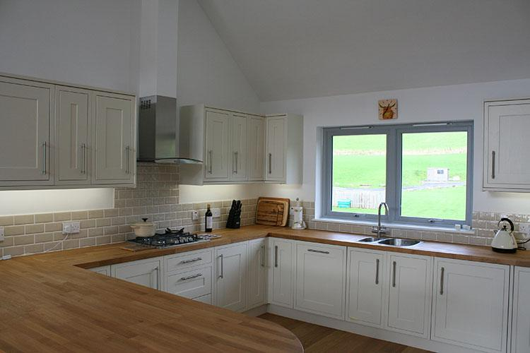 Craigard kitchen with views of the hills over Kenmore
