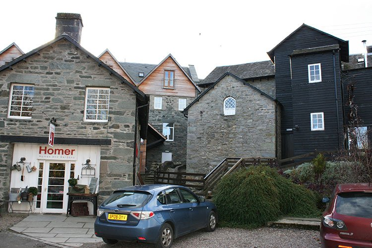 Exterior view of The Crown Apartment and the Aberfeldy Watermill