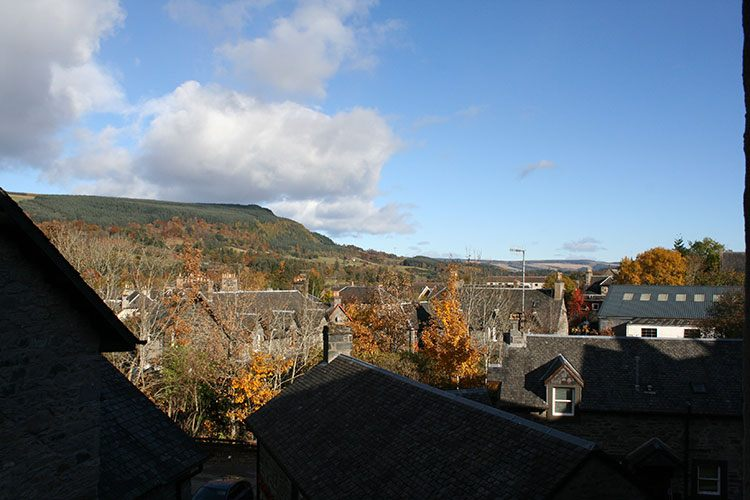 The Crown Apartment view over Aberfeldy