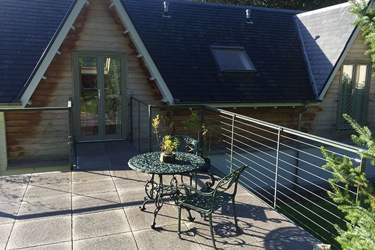 The Wee Cosy Nook decking area with seating