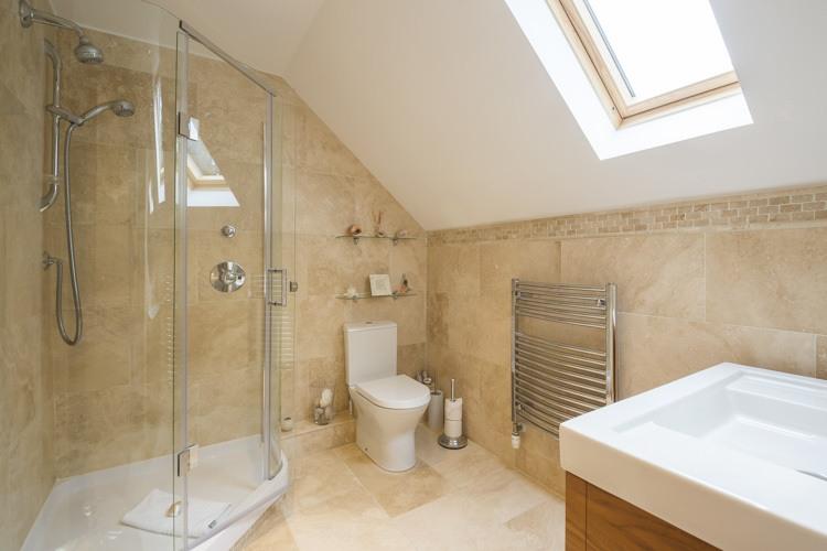 Spacious luxury shower room