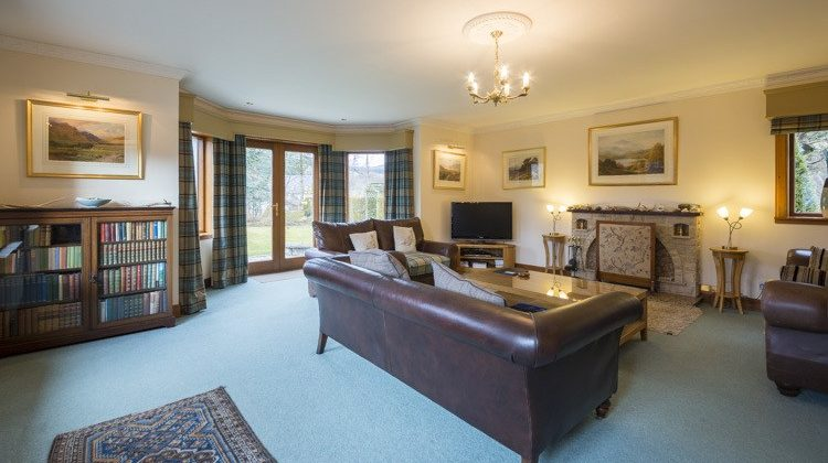 Living area with views towards Glen Lyon