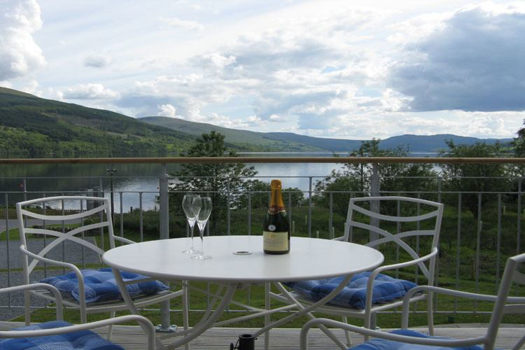 Balcony with stunning views of Loch Tay