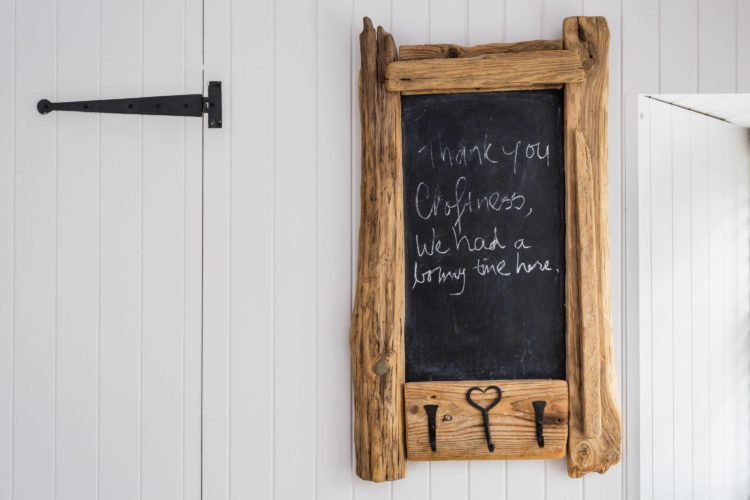 Croftness Cottage chalkboard decoration