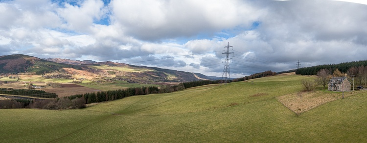 Tulliechuil sits in a stunning location with fabulous views of the Tay Valley