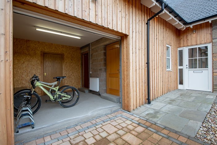 Garage with electric roller door. Ideal for storing yor bikes etc.