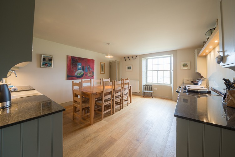 Kitchen with stunning views of the Tay Valley