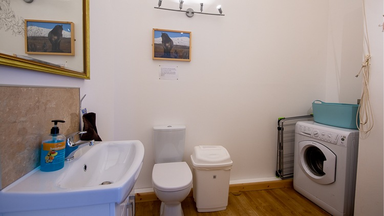 Utility room with loo and sink