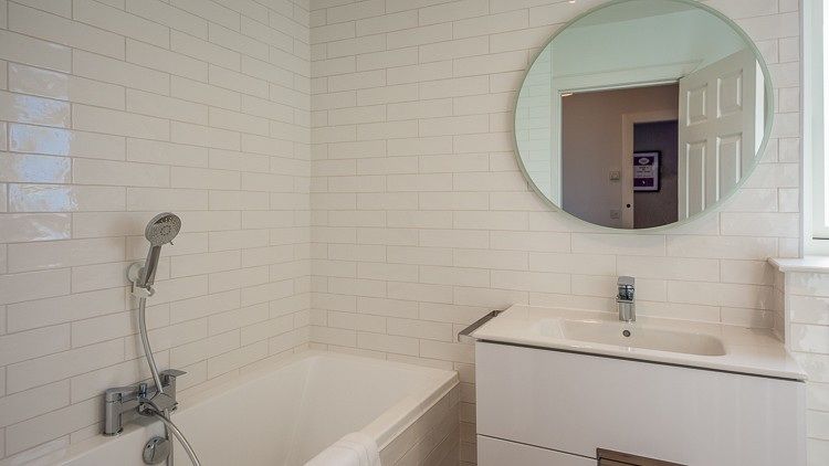 Family bathroom with bath and large walk in shower