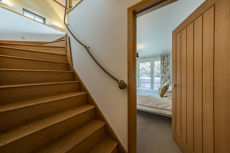 Stairs to open plan living space