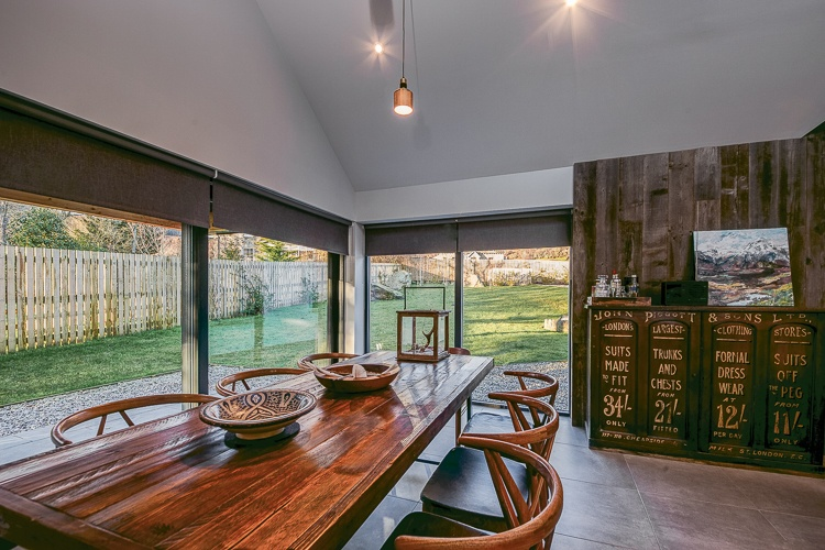 Beautiful dining table which is just one of the many stylish design features of this stunning property