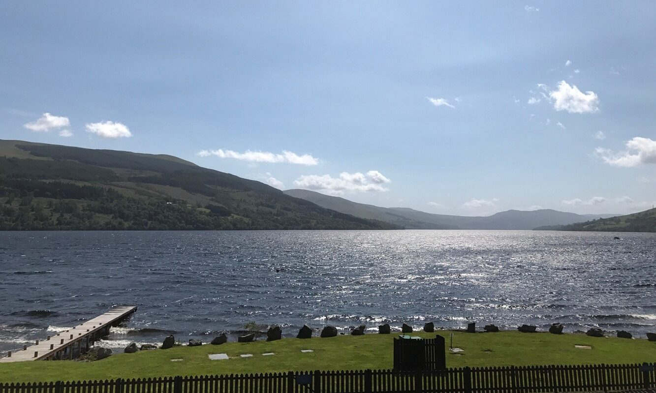 View of Loch Tay. Private beach and jetty for residents use.