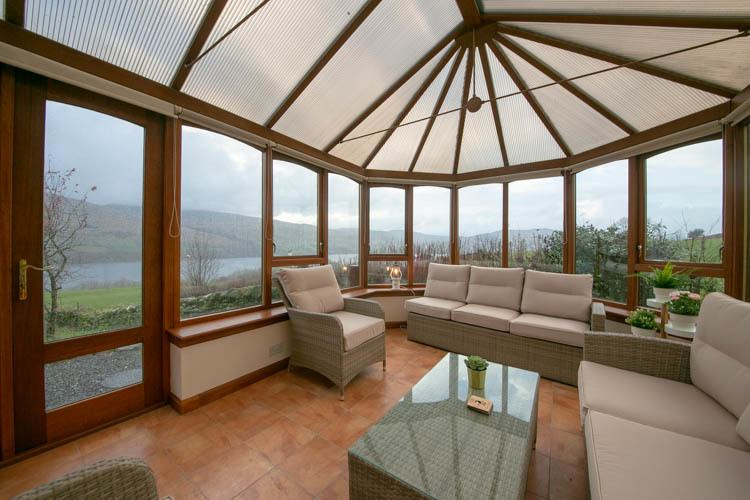 Conservatory with breaktaking views