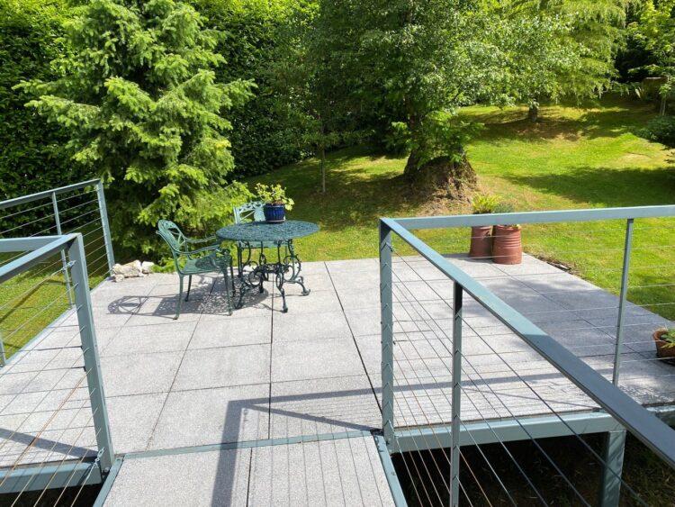 Private terrace accessed via patio doors